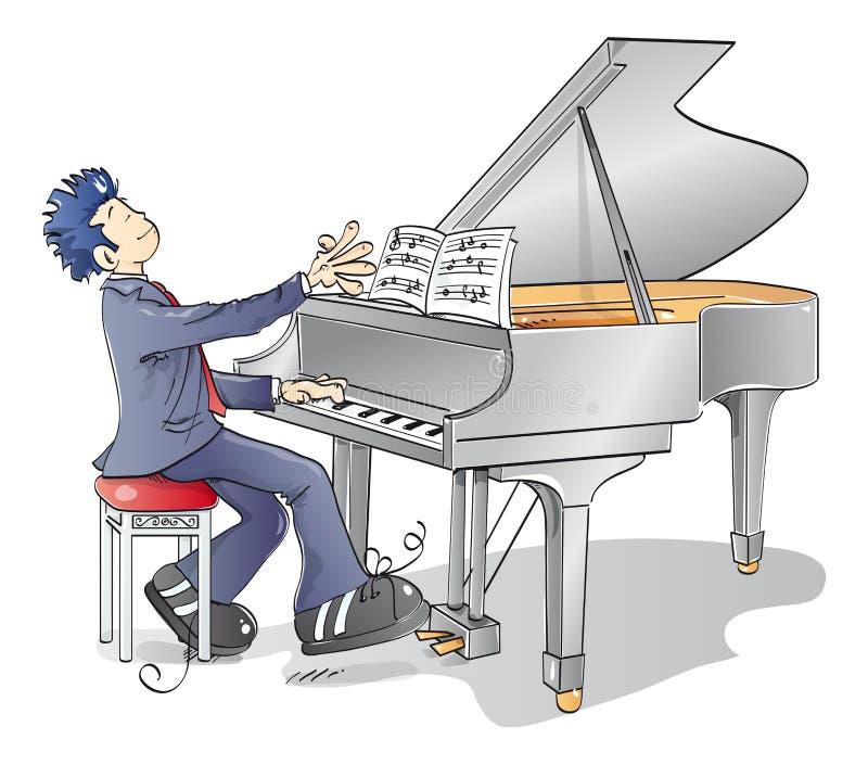 рояль человека иллюстрация штока