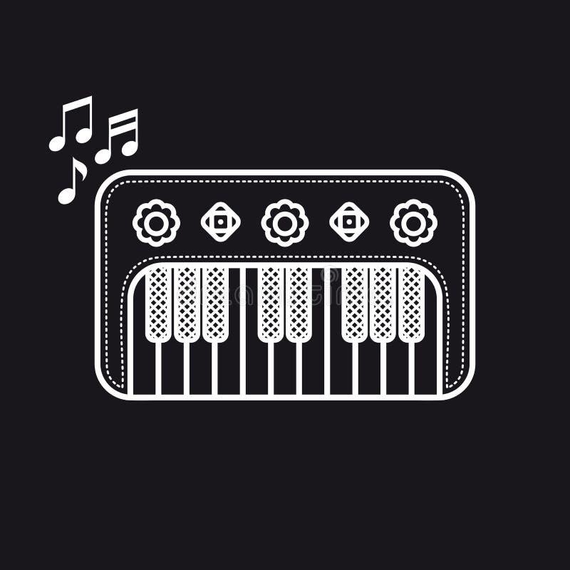 Рояль Музыкальный инструмент для ребенк иллюстрация плодоовощ еды архивов предпосылки младенца изолировала предметы тип там toy о бесплатная иллюстрация