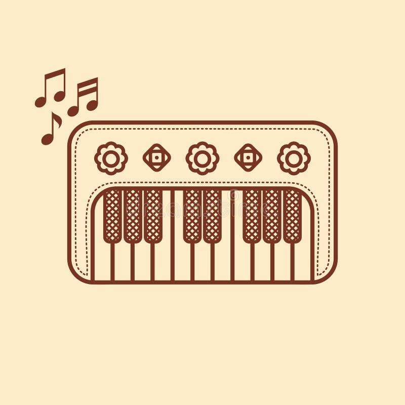 Рояль Музыкальный инструмент для ребенк иллюстрация плодоовощ еды архивов предпосылки младенца изолировала предметы тип там toy о иллюстрация вектора