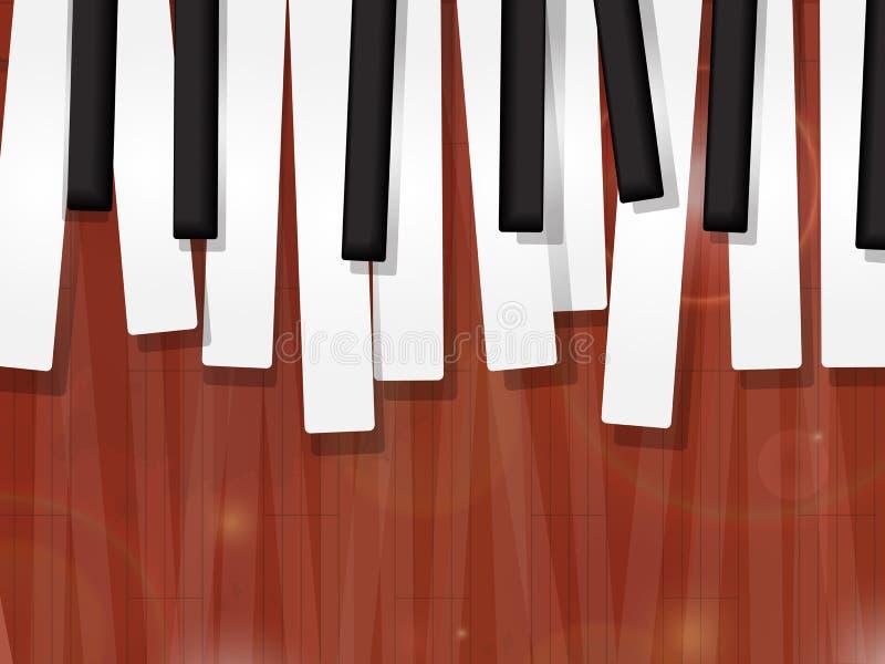 Рояль пользуется ключом grunge иллюстрация штока