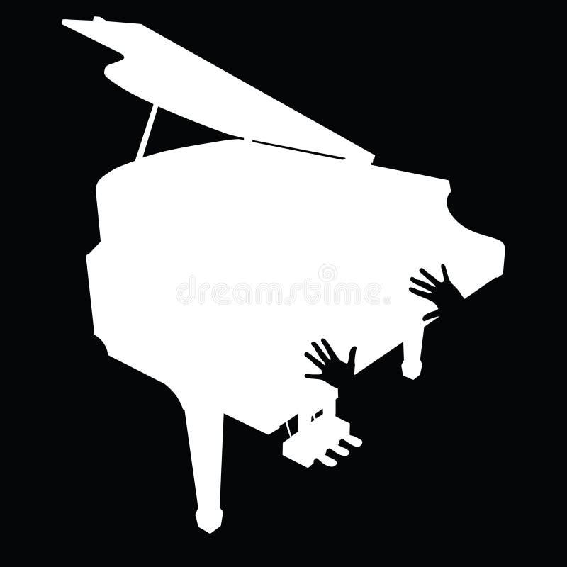 Рояль с иллюстрацией руки бесплатная иллюстрация