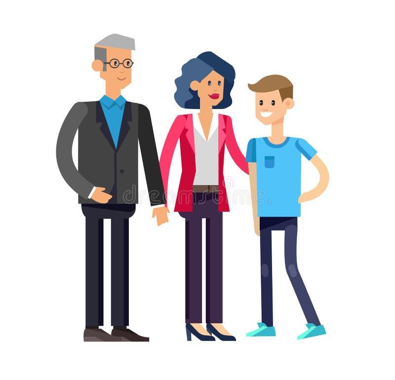 Родители с детьми, парами, семьей и детьми иллюстрация вектора