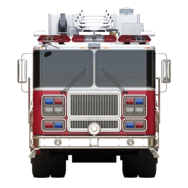 Родовое вид спереди иллюстрации пожарной машины на белой предпосылке иллюстрация вектора