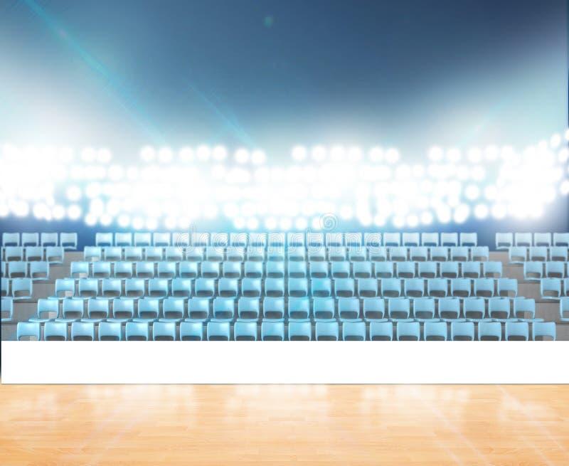 Родовой Floodlit стадион стоковое фото