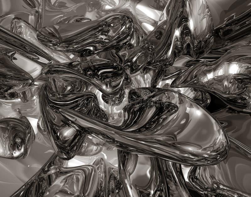 ртуть жидкости левитации стоковое изображение rf