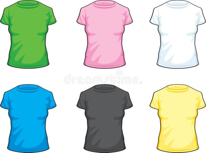 рубашка девушки иллюстрация вектора