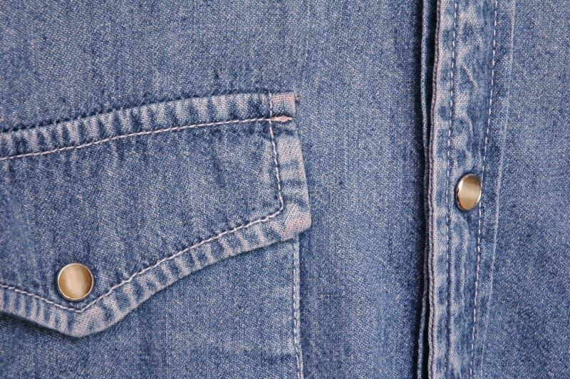 рубашка джинсовой ткани стоковая фотография rf
