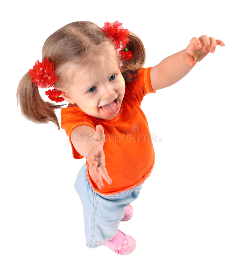 рубашка изолированная младенцем померанцовая t стоковое фото