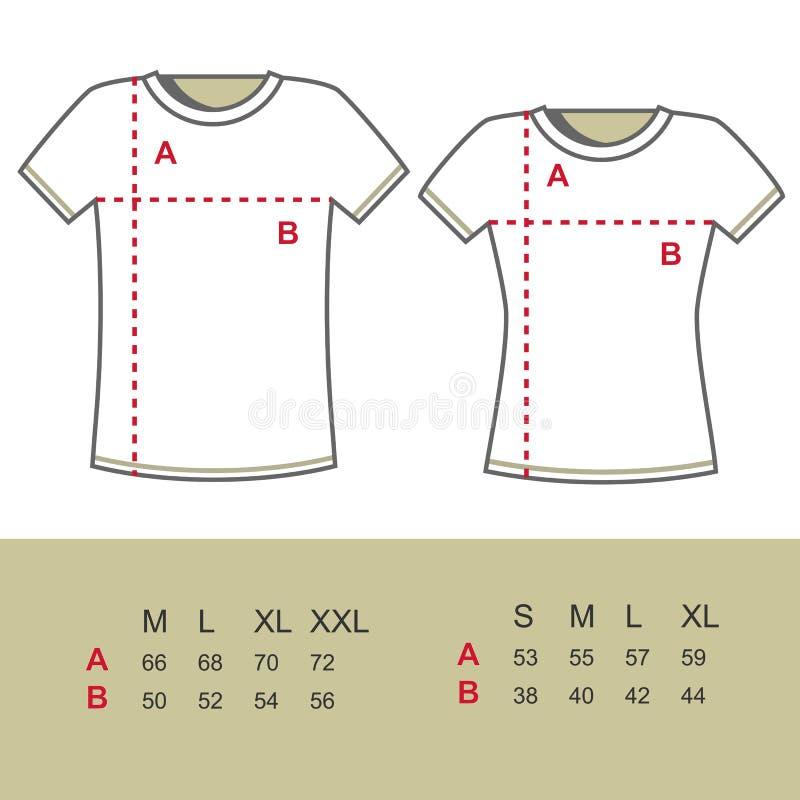 рубашка определяет размер t иллюстрация штока