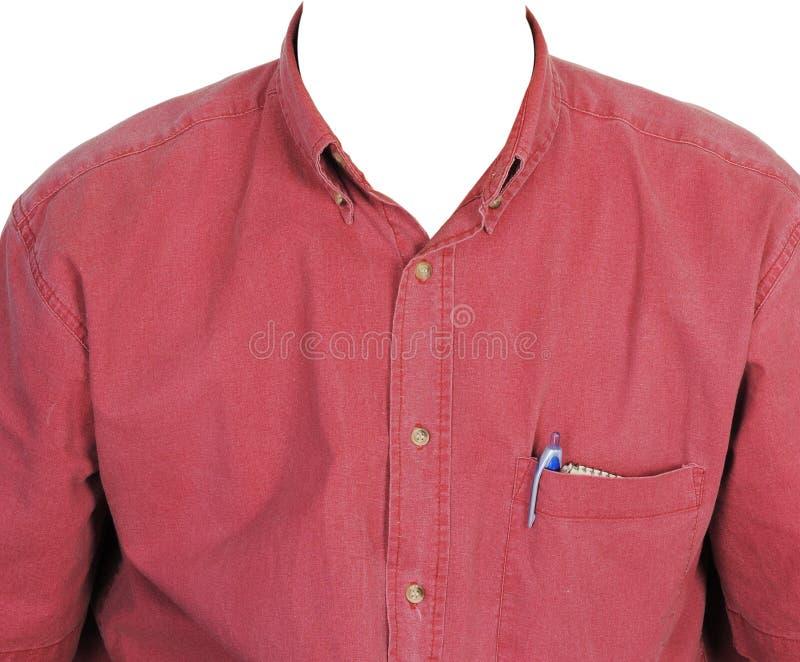 рубашка человека красная s стоковые фотографии rf