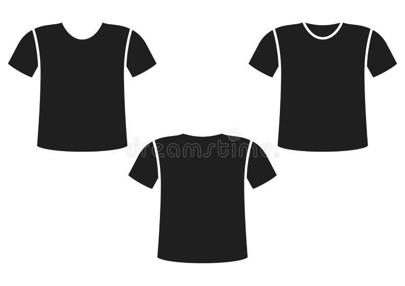 рубашка t вид спереди, вид сзади также вектор иллюстрации притяжки corel бесплатная иллюстрация