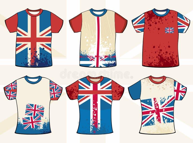 рубашка t grunge конструкции английская иллюстрация штока