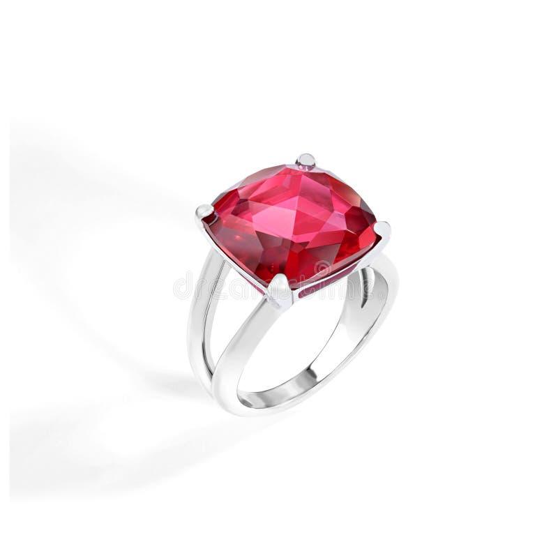 Рубиновое кольцо роскоши золота стоковые изображения rf