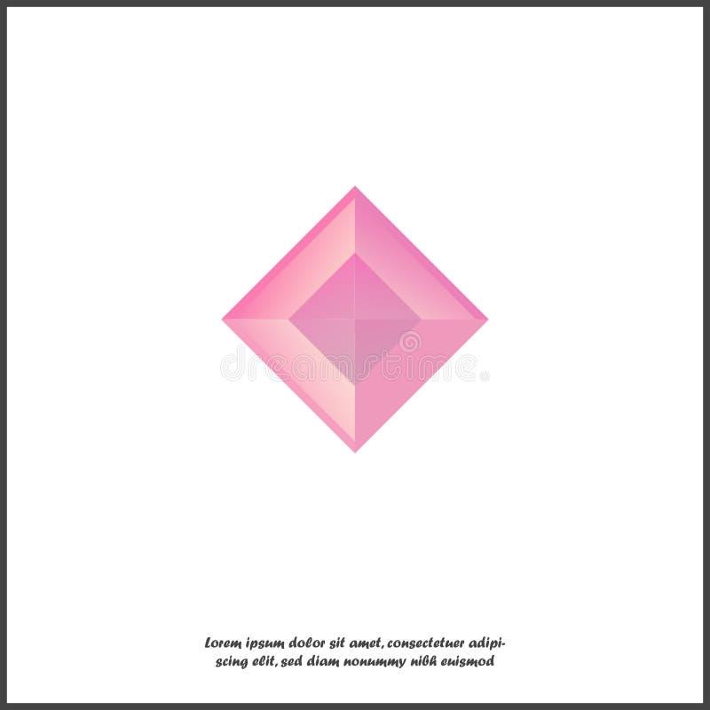 Рубиновый значок вектора Рубин драгоценной камня значка на белой изолированной предпосылке иллюстрация штока