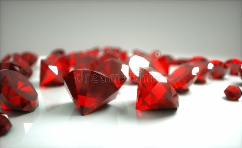 Рубины стоковое изображение rf
