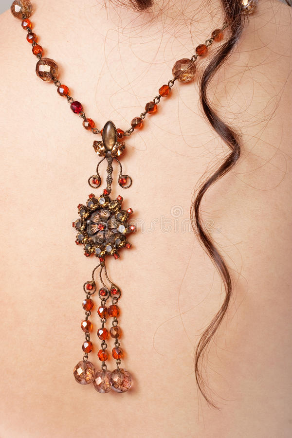 рубин ожерелья стоковое изображение rf