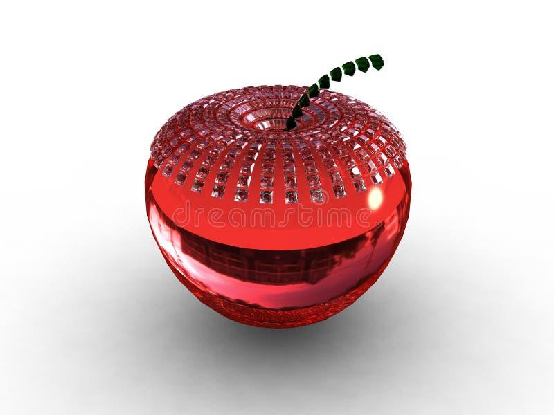 рубин предпосылки яблока стеклянный красный иллюстрация вектора