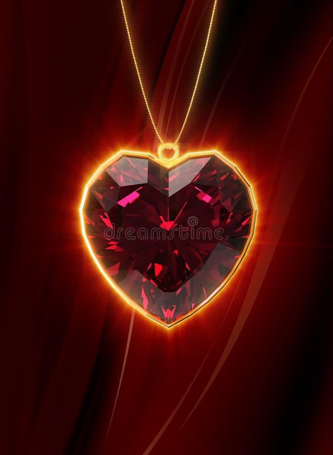 рубин сердца иллюстрация вектора