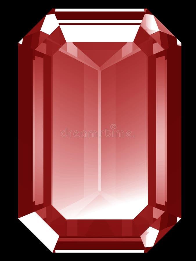 рубин 3d иллюстрация штока