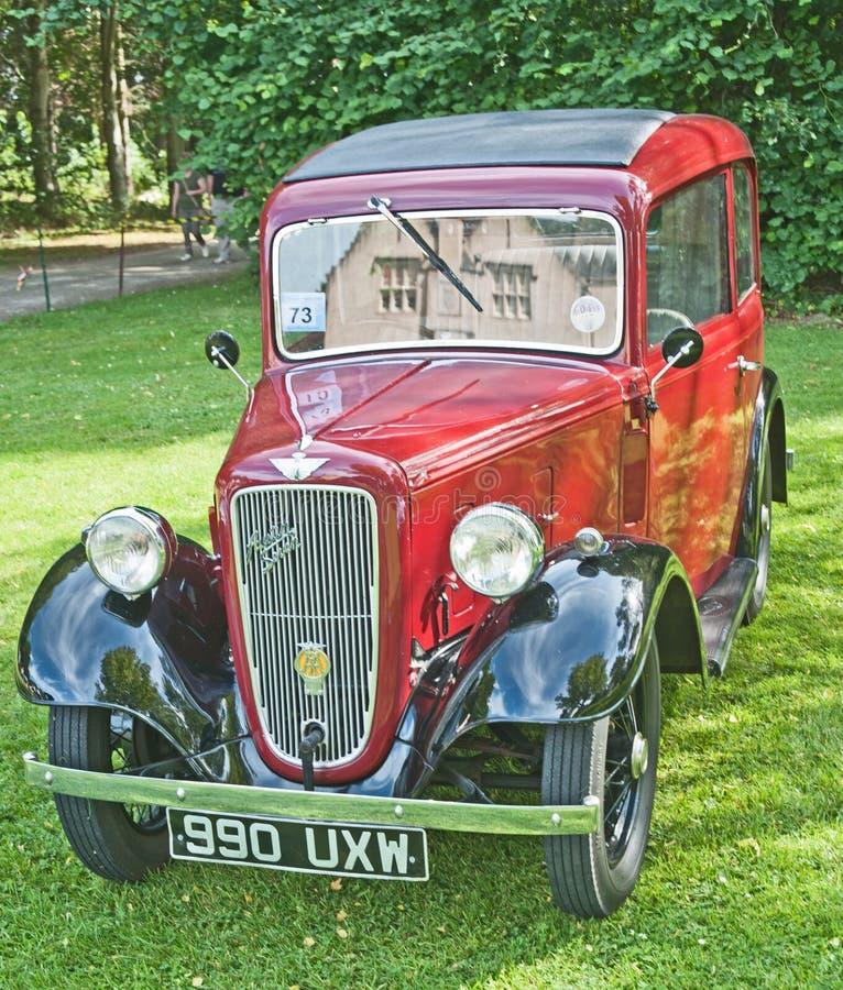 Рубин Austin 7 на ралли замока Brodie. стоковое изображение