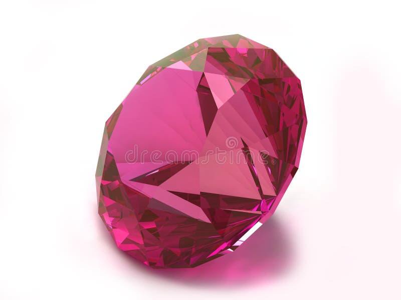 рубин rhodolite gemstone иллюстрация вектора