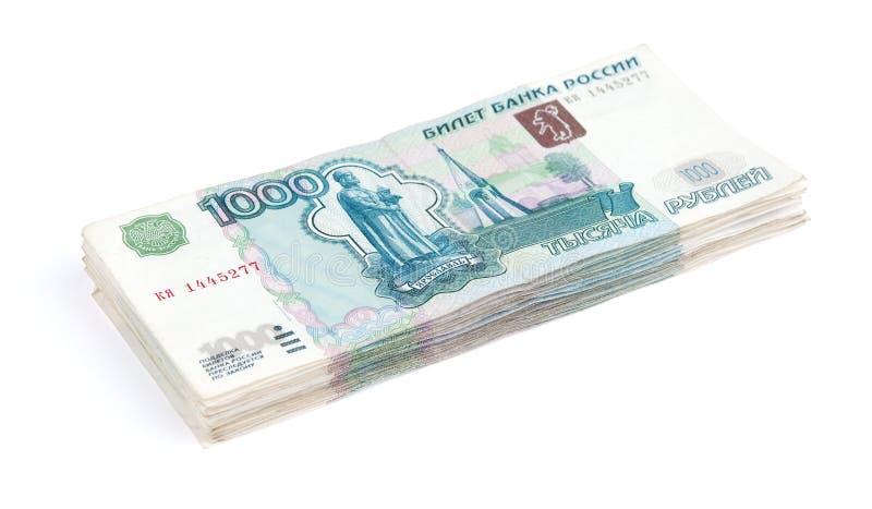 рублевка кучи кредиток стоковые фото