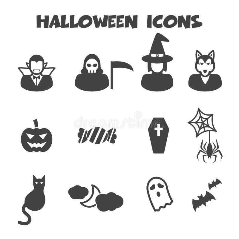 другая тыква икон halloween что-то ведьмы иллюстрация штока