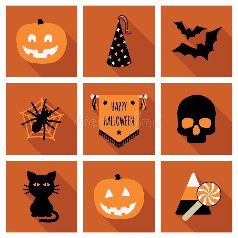 другая тыква икон halloween что-то ведьмы иллюстрация вектора