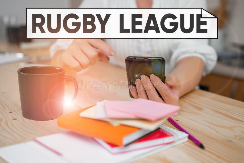 Ругби Лига регби Понятие - форма регби-футбола, сыгранная между командами из 13 игроков, использующих стоковые фотографии rf