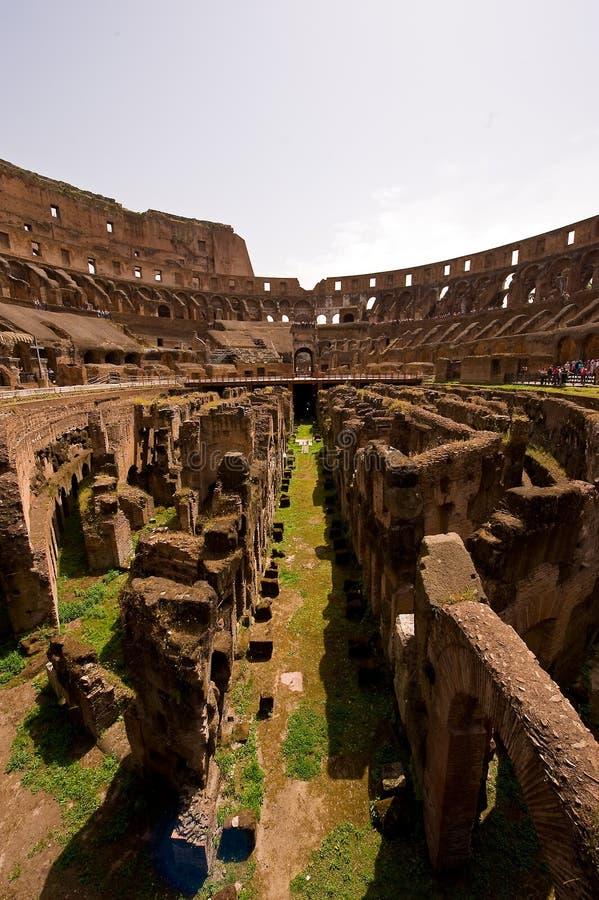 руина внутренности colosseum стоковое изображение rf