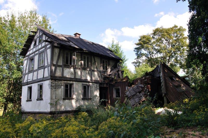 руина дома семьи стоковая фотография