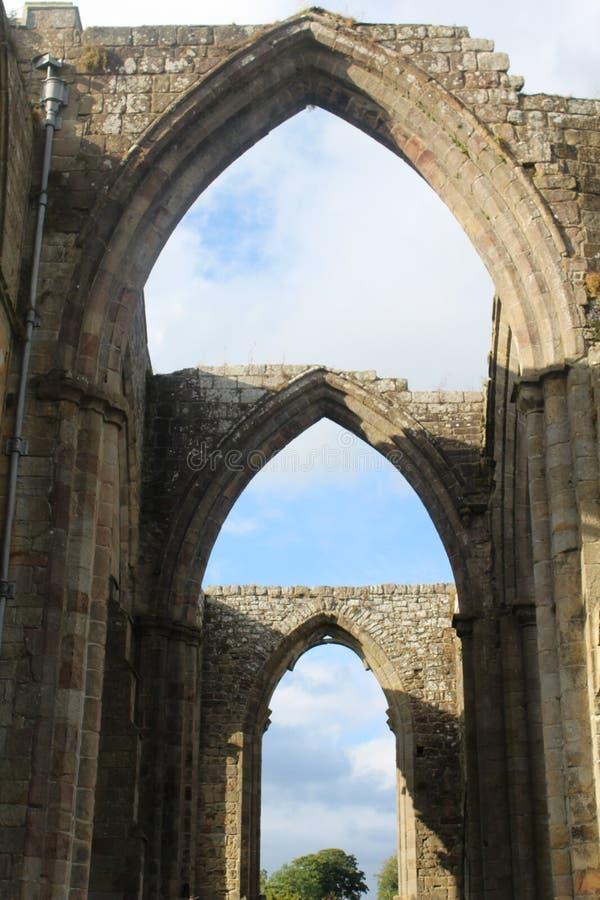 Руины аббатства Bolton стоковое изображение