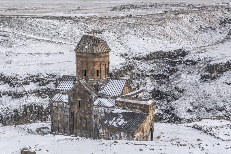 Руины ани около турецкой армянской границы в Турции стоковые изображения