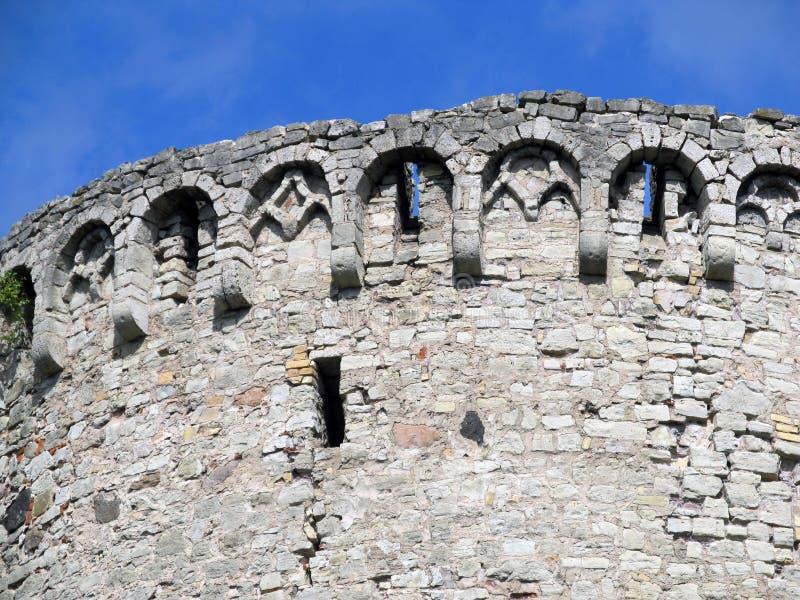 Руины башни Catle стоковое фото
