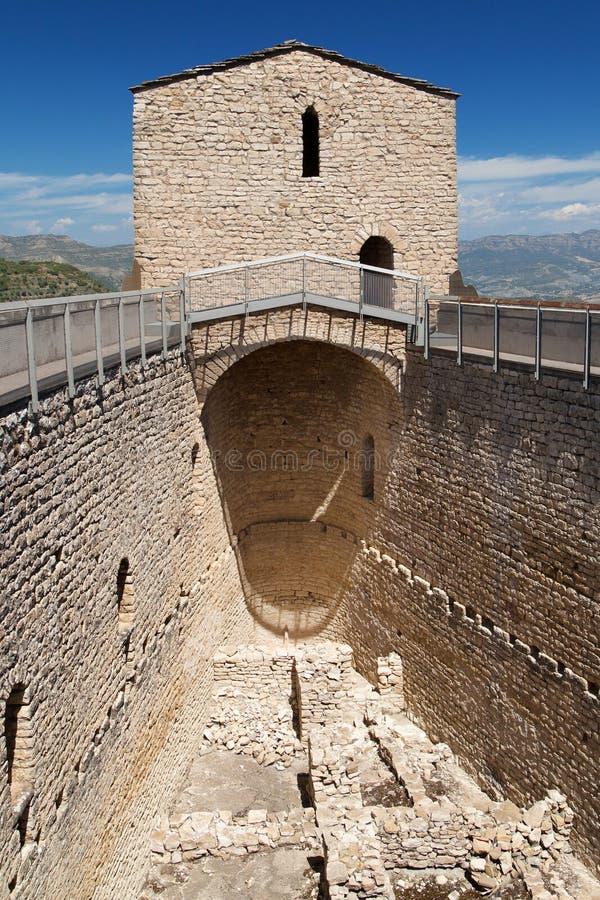 Руины большого зала замка Mur стоковая фотография rf