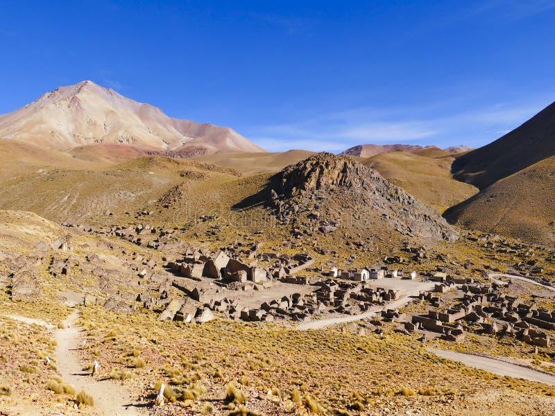 Руины бывшей минируя Пуэбло Fantasma городка стоковое фото rf