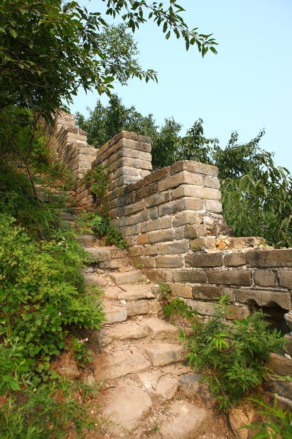 Руины Великой Китайской Стены стоковое изображение