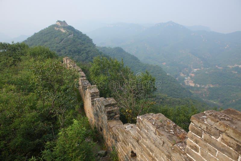 Руины Великой Китайской Стены стоковые изображения rf