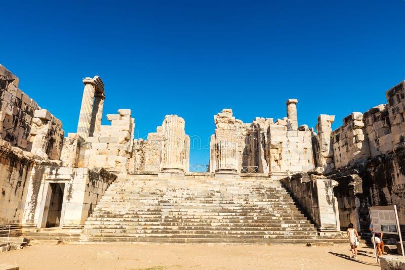 Руины виска Аполлона в Didyma, Турции стоковое изображение