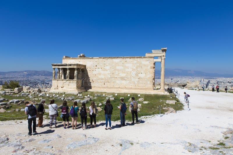 Руины виска Афродиты на пантеоне стоковое изображение rf