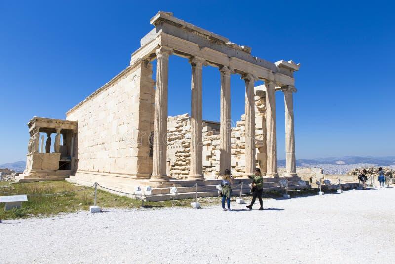 Руины виска Афродиты на пантеоне стоковая фотография rf