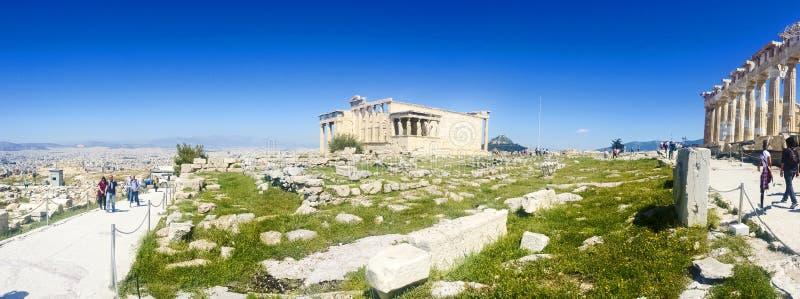 Руины виска Афродиты на пантеоне стоковые фотографии rf