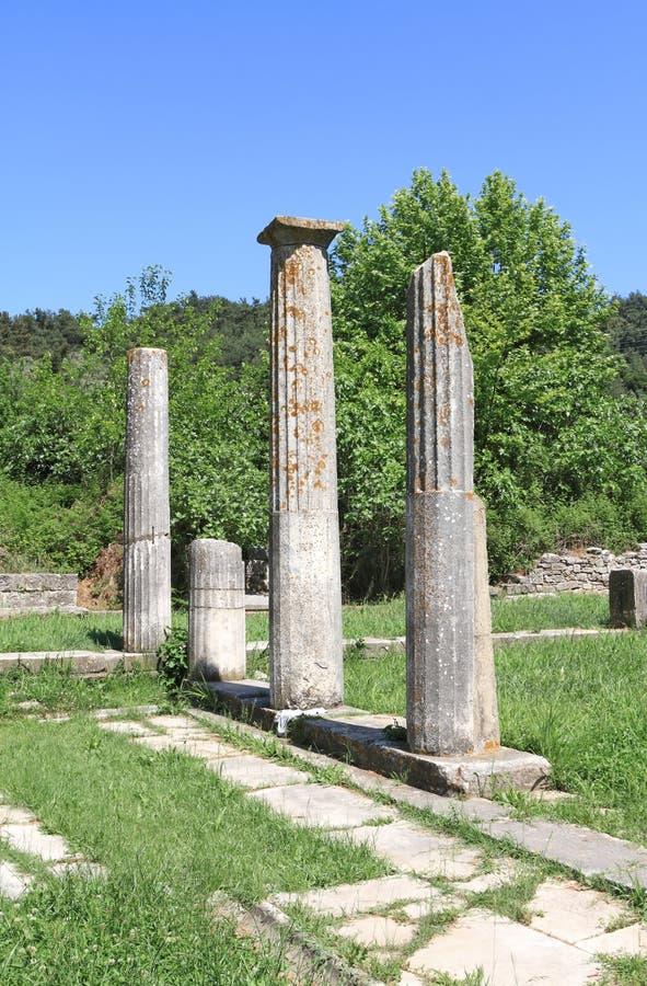 Руины виска древнегреческия стоковое изображение rf