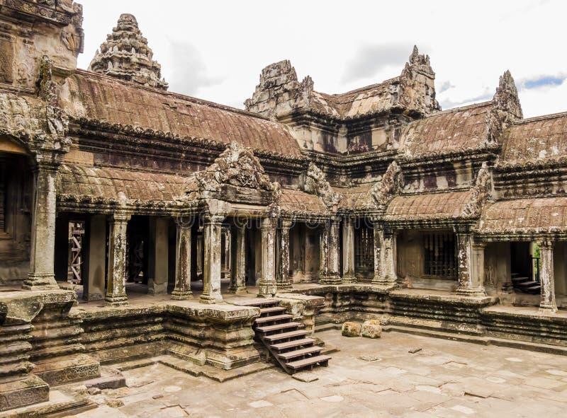 Руины виска Angkor Wat, Siem Reap, Камбоджи стоковое изображение