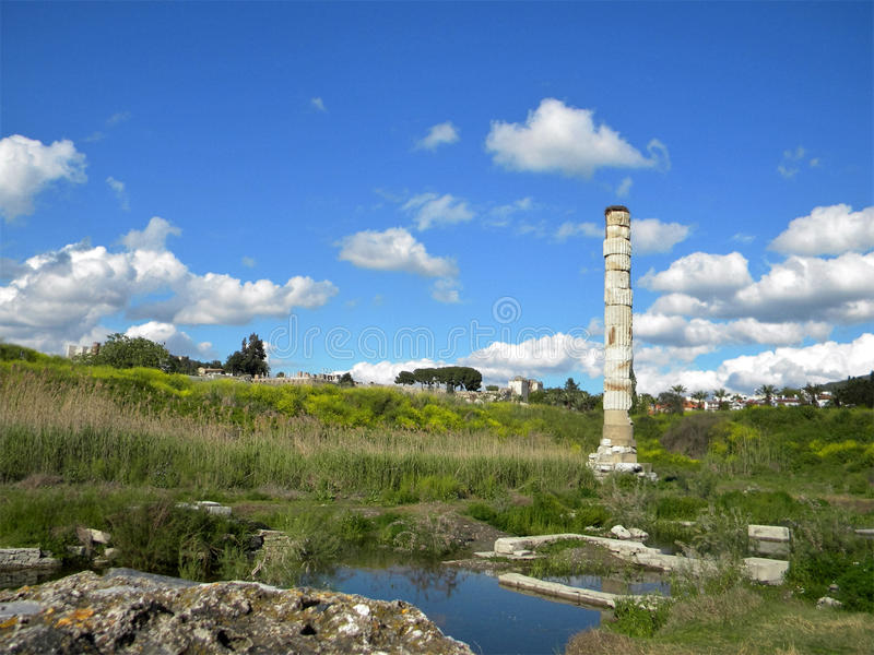 Руины виска Artemis стоковое изображение rf