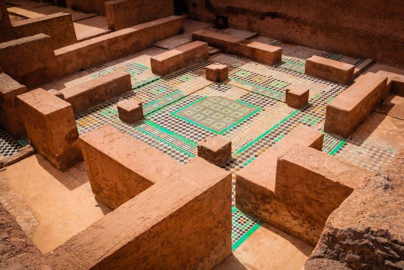 Руины дворца El Badi marrakesh Марокко стоковое изображение