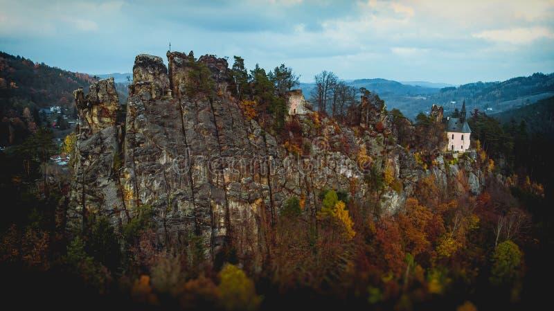 Руины Врановского замка - Пантеон стоковое изображение rf