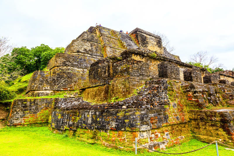 Руины в Белизе стоковое изображение