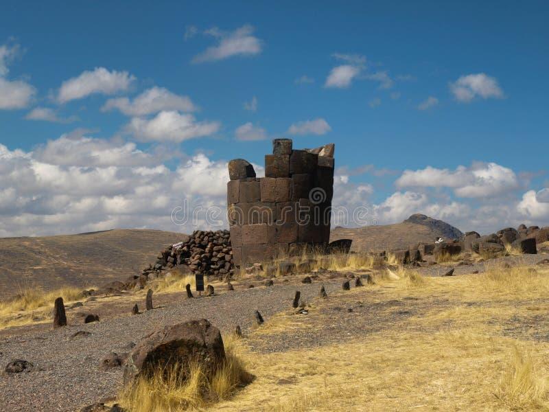 Руины в могиле башни Перу стоковое фото