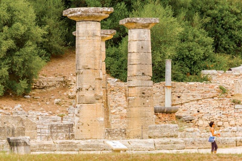 Руины в Олимпии, Греции стоковая фотография rf